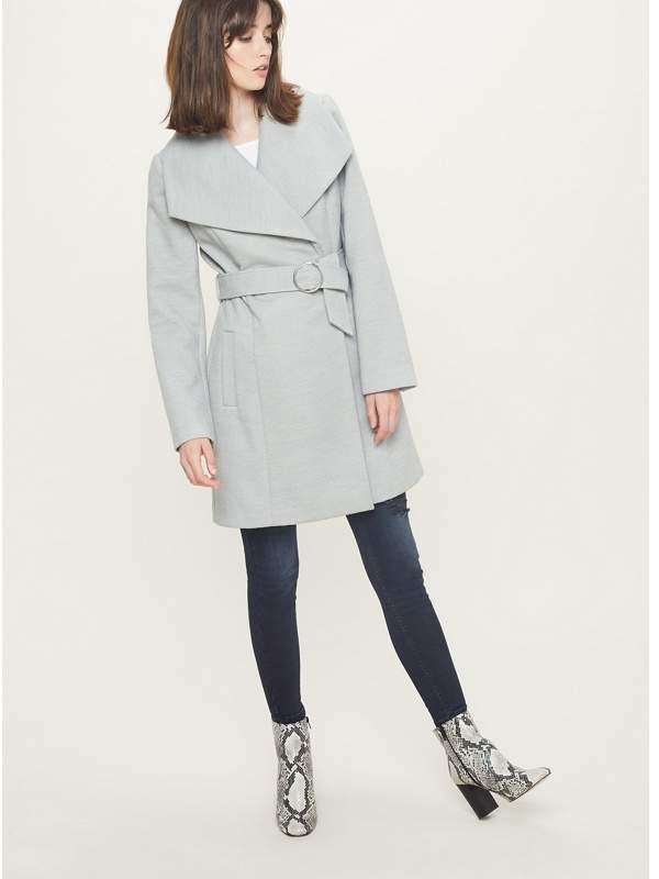 Grey O-Ring Wrap Coat