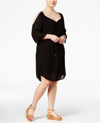 Raviya Plus Size Cold-Shoulder Cover-Up $54 thestylecure.com