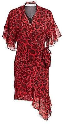IRO Women's Link Leopard Print Wrap Dress