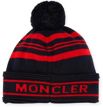 Moncler Men's Jumbo Pompom Beanie Hat