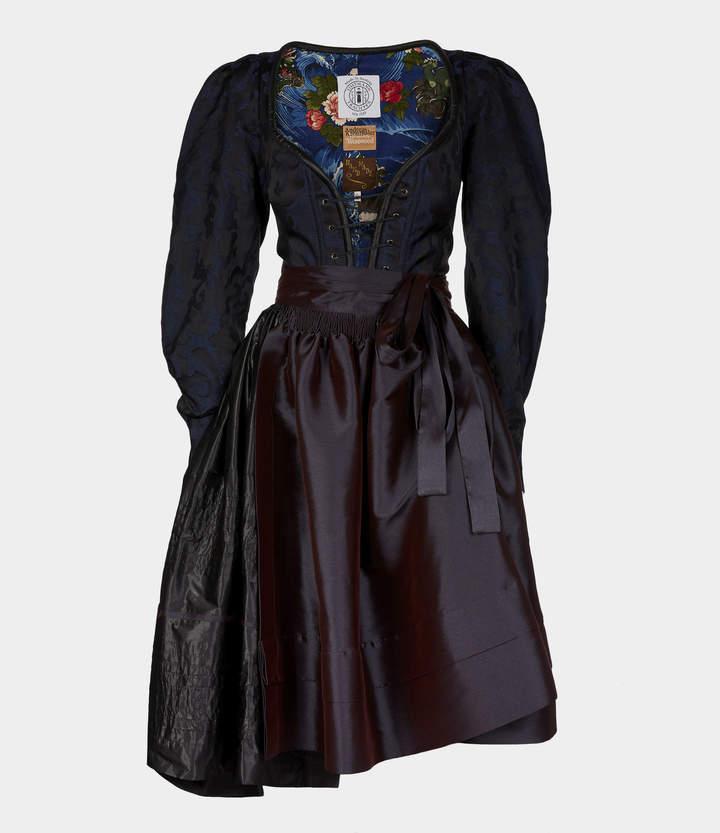 Maloia Dress Black/Blue