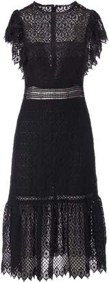 Philosophy di Lorenzo Serafini Laced Detail Embroidered Dress