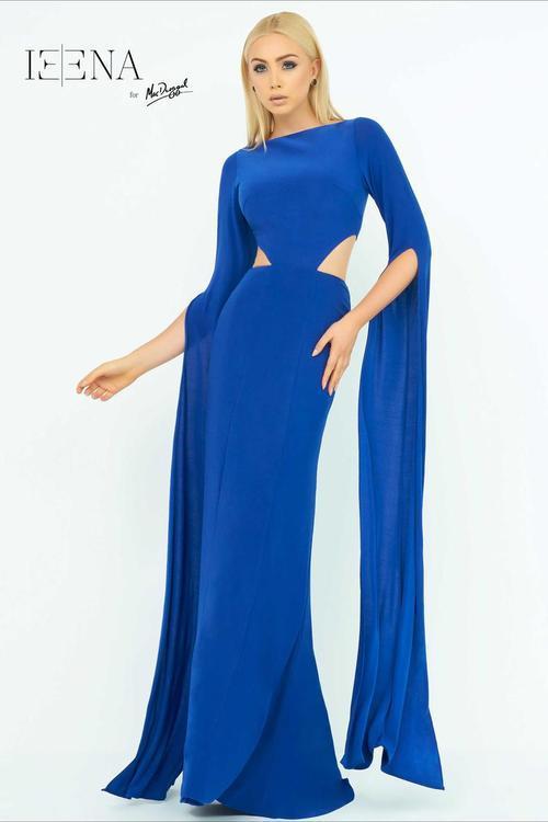 Ieena for Mac Duggal - 25536 Hi Neck Gown In Royal