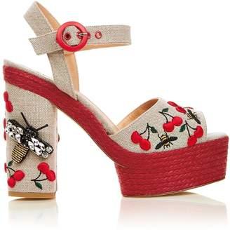 Castaner Merlion Park EmbellishedBlock Heels