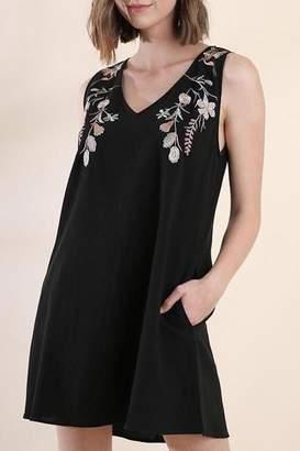 Umgee USA Christa Embroidered Dress
