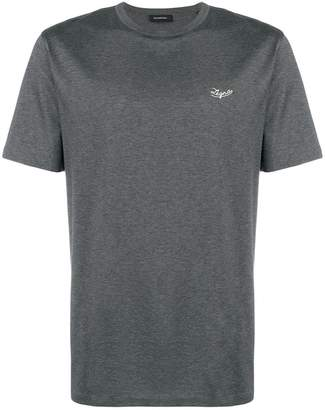 Ermenegildo Zegna embroidered logo T-shirt