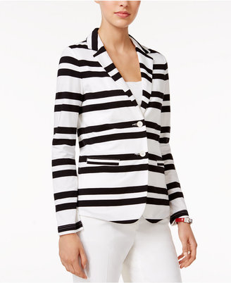 Tommy Hilfiger Striped Two-Button Blazer, Only at Macy's $79.50 thestylecure.com