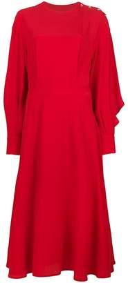 MSGM shoulder button midi dress