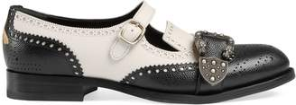 Gucci Queercore brogue monk shoe