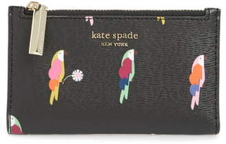 Kate Spade Small Sylvia Flock Party Leather Bifold Wallet