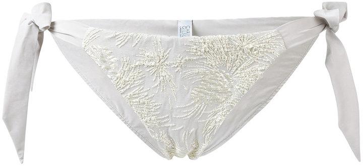 Carine GilsonCarine Gilson jacquard flower bikini bottom