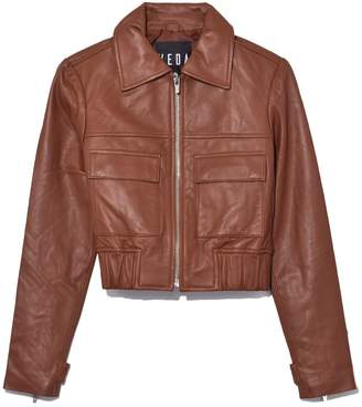 Veda Jack Leather Jacket in Saddle