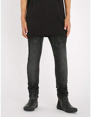 Boris Bidjan Saberi Paint-splattered slim-fit skinny jeans