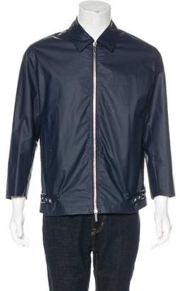 Christian Dior Belt-Accented Coated Jacket