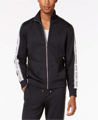 INC International Concepts I.n.c. Men's Striped-Sleeve Track Jacket, Created for Macy's