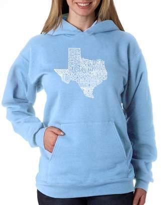 The Great Los Angeles Pop Art Women's Hooded Sweatshirt State of Texas