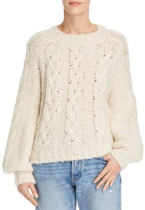 Anine Bing Ali Cable-Knit Sweater
