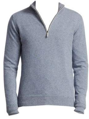 Saks Fifth Avenue COLLECTION Half-Zip Cashmere Sweater