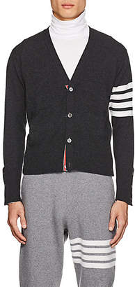 Thom Browne Men's Block-Striped Cashmere Cardigan - Gray