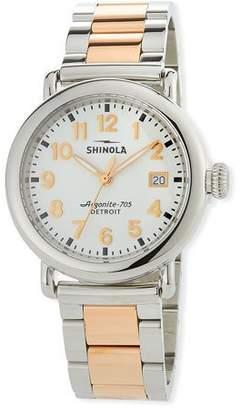 Shinola 36mm The Runwell Two-Tone Bracelet Watch