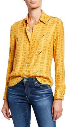 HVN Cristina Button-Down Blouse