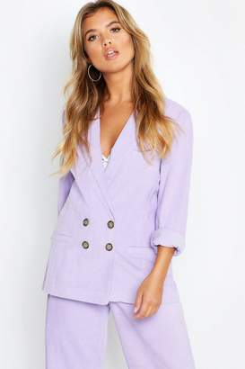 boohoo Cord Button Blazer Jacket