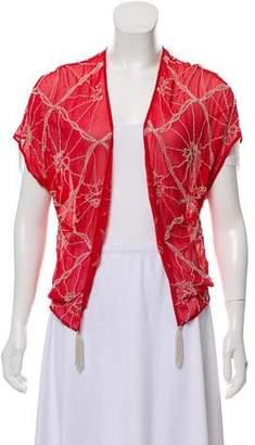 Gryphon Cobweb Vest Silk Cardigan
