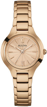 Bulova Classic Womens Rose-Tone Stainless Steel Bracelet Watch 97L151 $149.25 thestylecure.com