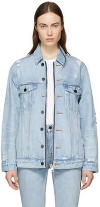 Alexander Wang Blue Daze Zip Denim Jacket