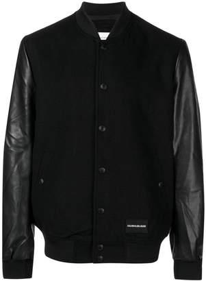 Calvin Klein Jeans contrast sleeve bomber jacket