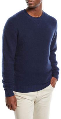 Neiman Marcus Men's Cashmere/Nylon Crewneck Sweater