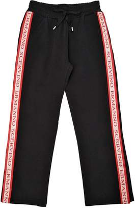 Ermanno Scervino Logo Side Bands Cotton Sweatpants