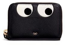 Anya HindmarchAnya Hindmarch 'Eyes' small leather zip wallet