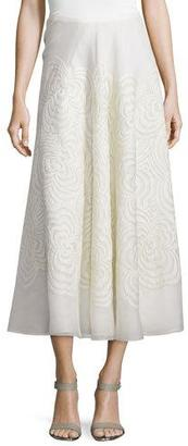 Ralph Lauren Collection Roxanne Embroidered Midi Skirt, Cream $5,990 thestylecure.com