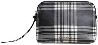 Burberry large laminated tartan and check pouch