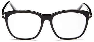 Tom Ford Square Blue Blocker Glasses, 54mm