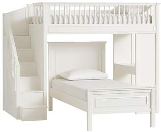 Pottery Barn Kids Fillmore Stair Loft Bed & Twin Bed