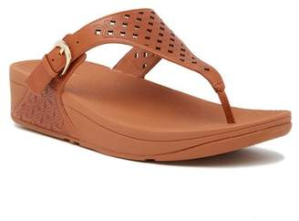 FitFlop Skinny Toe Post Lattice Wedge Sandal