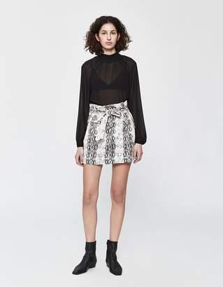 Morgan Stelen Snake Print Skirt