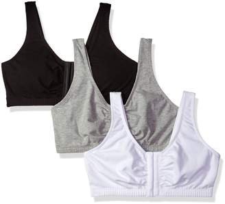 Fruit of the Loom Womens' Front Close Built Up Sports Bra