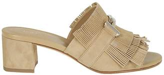 Tod's Double T Fringed Sandals