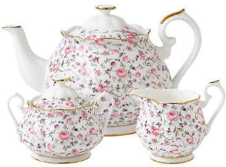 Royal Albert NEW Rose Confetti Teapot Set 3pce