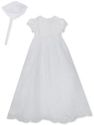 Rare Editions Baby Girls Christening Dress & Bonnet Set