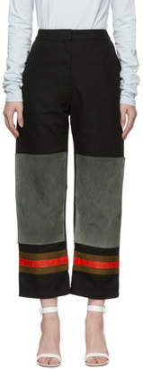Calvin Klein Black and Grey Worker Trousers
