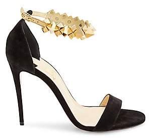Christian Louboutin Women's Planetava Studded Suede Sandals