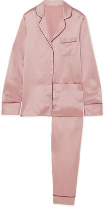 Stella McCartney Poppy Snoozing Silk-satin Pajama Set - Blush