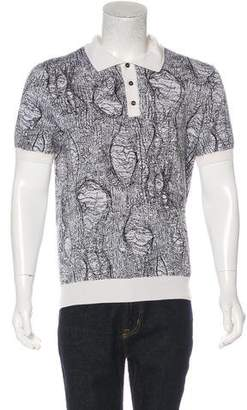 Christian Dior Patterned Knit Polo Shirt