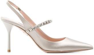 5907d8fc676 Grey Satin Heels - ShopStyle UK
