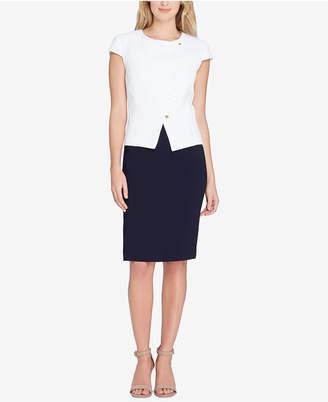 Tahari ASL Asymmetrical Skirt Suit