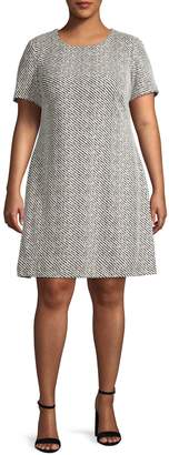 Calvin Klein Printed Shift Dress
